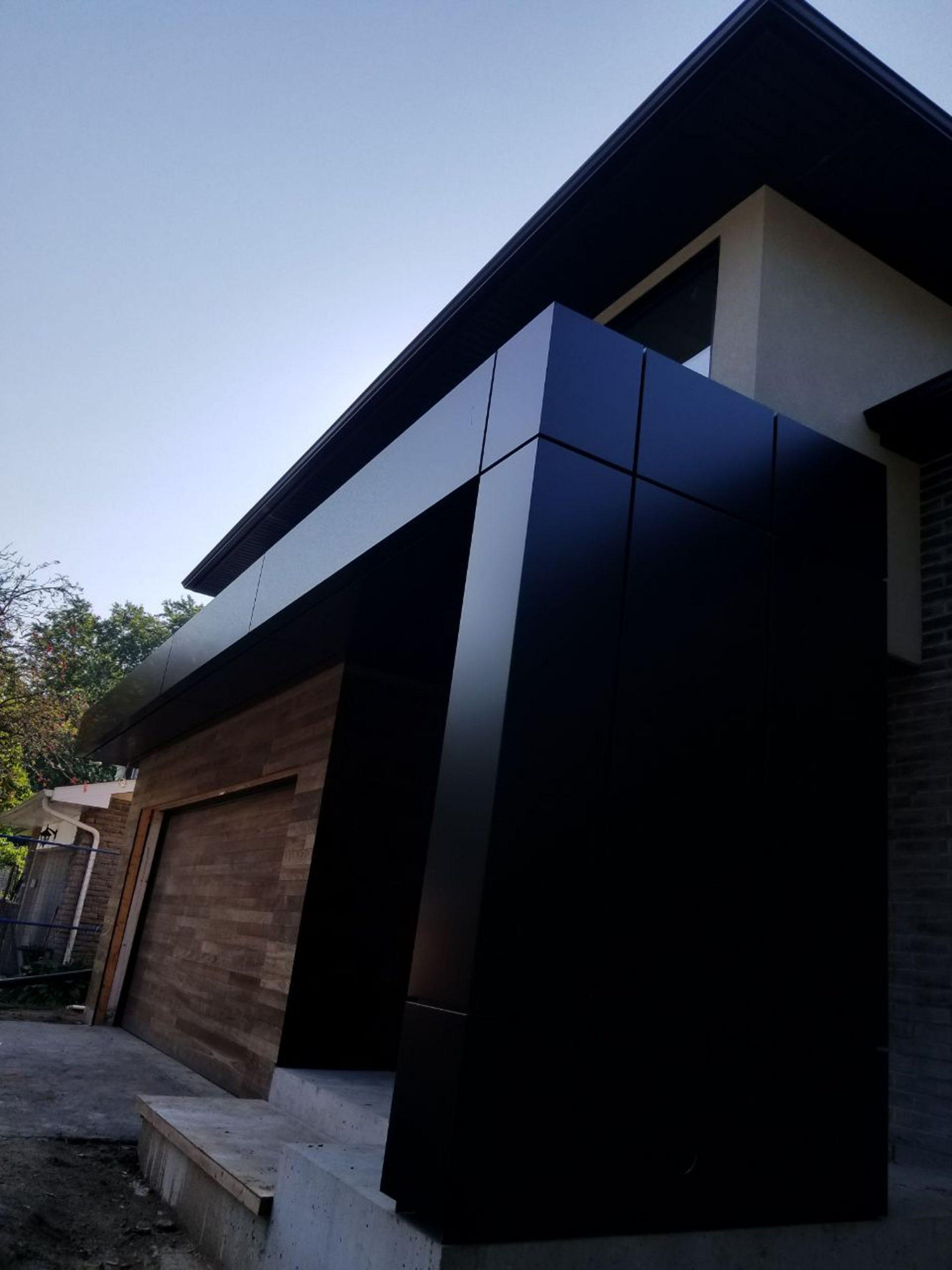 ACM Panel Metal Cladding - Soffit Nova Wood Siding Toronto